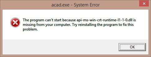 Fix error Skype: the program can't start because api-ms-win-crt-runtime-l1-1-0.dll