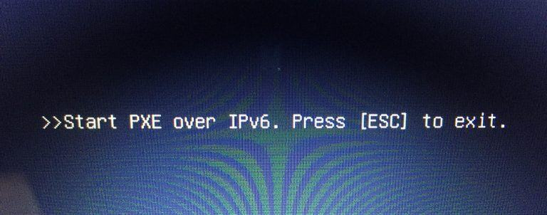Error: Checking media presence -The BIOS boots to the NIC