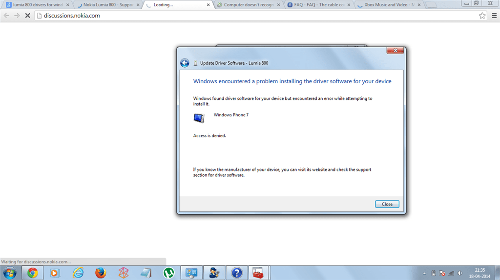 windows found drivers for your device but encountered an error while attempting to install it