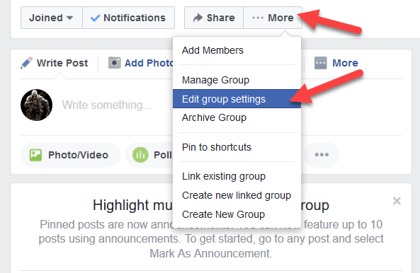 Facebook stop allow share post on closed group and secret group Facebook