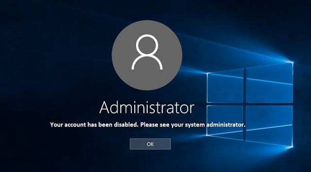 """Fixed: """"Your account has been disabled. Please see your system administrator"""" on win 10"""
