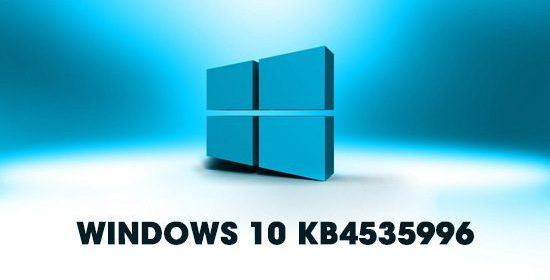 Fix network errors on the new update KB4535996 of win10