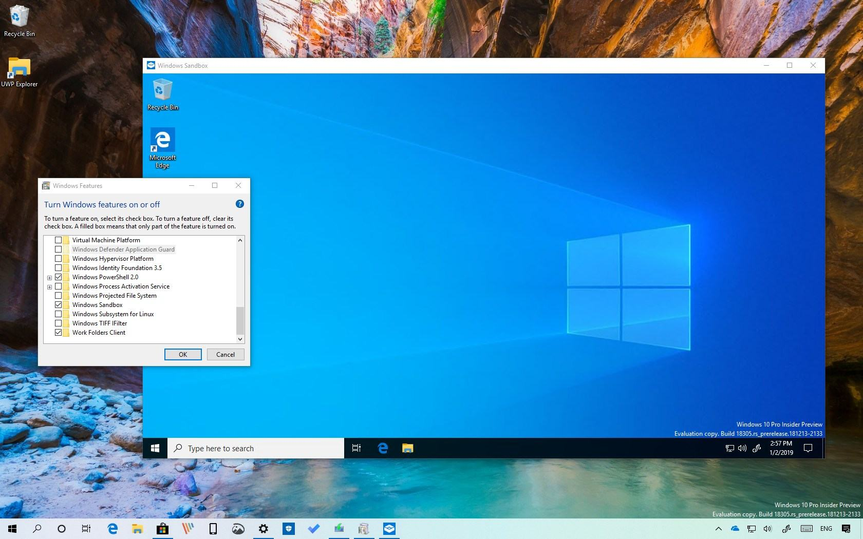 Safe way to launch unreliable software on Windows 10