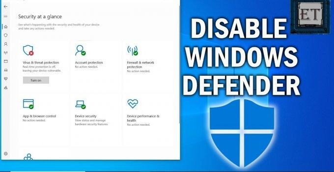 Instructions to turn off Windows Defender in Windows 10 in 3 WAYS