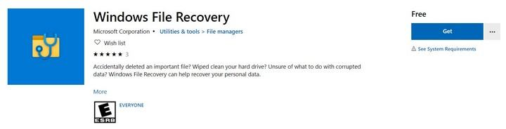Microsoft released the 'Windows File Recovery' application to recover accidentally deleted files on Windows 10