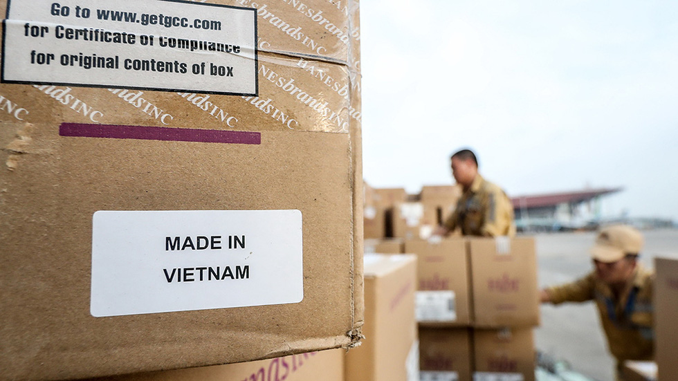"""The words """"Made in Vietnam"""" are printed on the outside of each package"""
