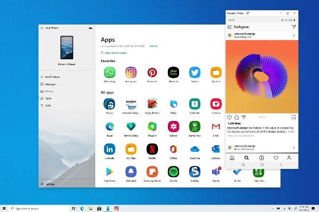 Windows 10 was able to run Android apps, no need to install an emulator app