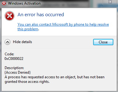 Fix the application was unable to start correctly (0xc0000022) error on window 10