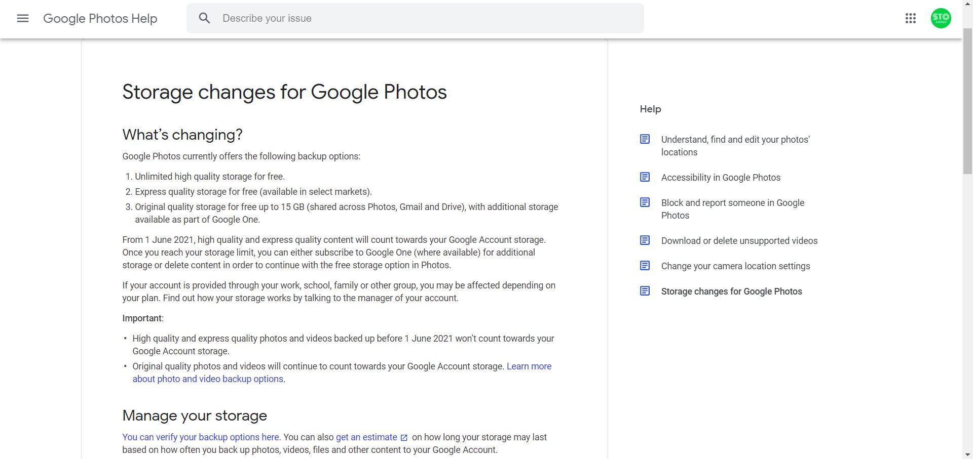 Google photos changes hosting policy