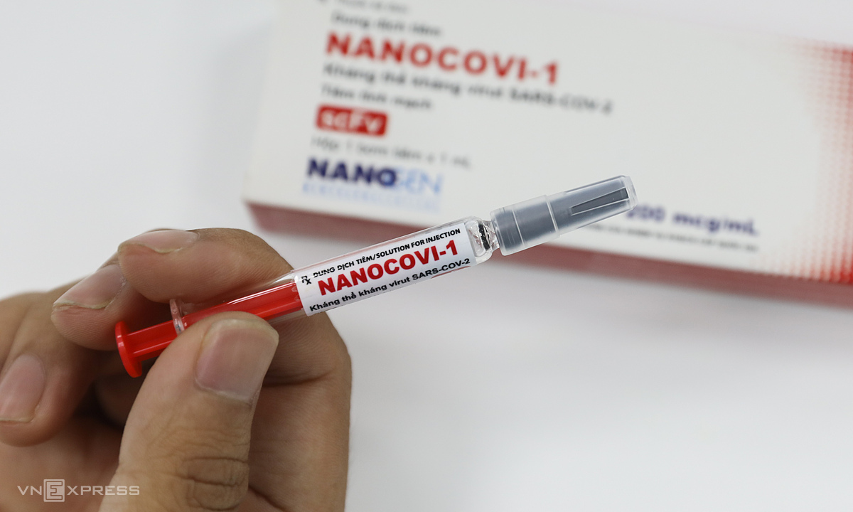 Covid-19 vaccine named Nanocovax is researched and produced by Nanogen Company.  Photo: Quynh Tran.