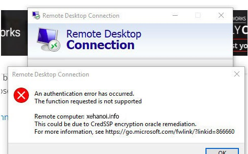 How to Fix This could be due to CredSSP encryption oracle remediation Error