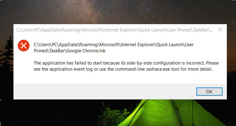 Fix the application failed to start side-by-side chrome.