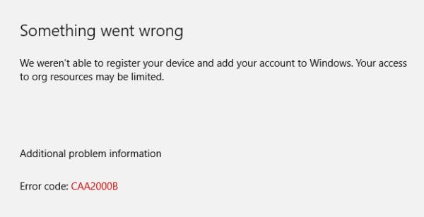 Troubleshooting Microsoft Teams Error caa2000b